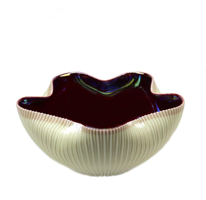 Murano Glass Vermiglio Cactus Bowl