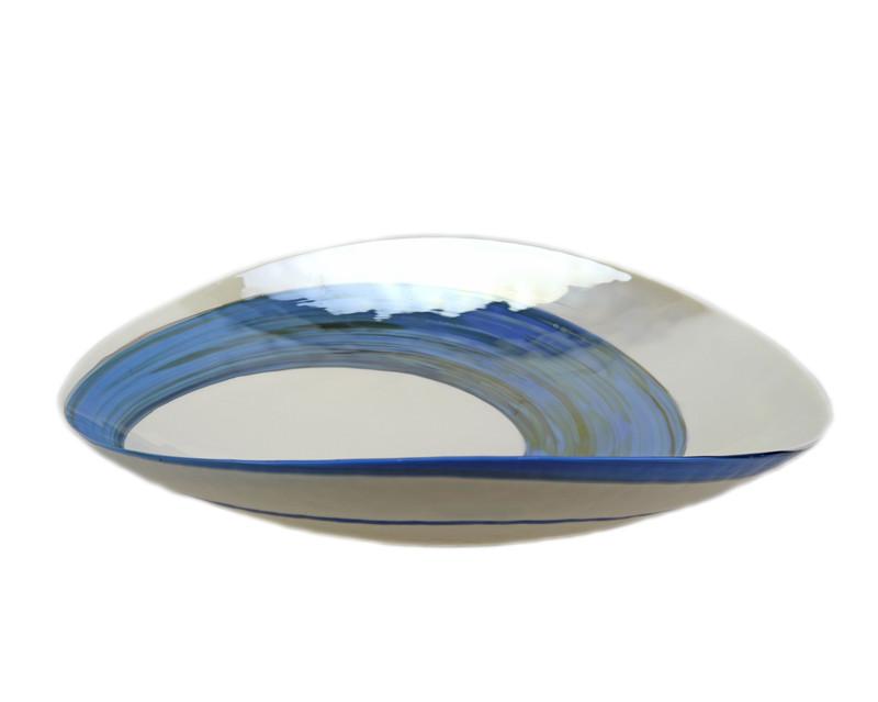 Murano Glass Pavone Centerpiece Plate