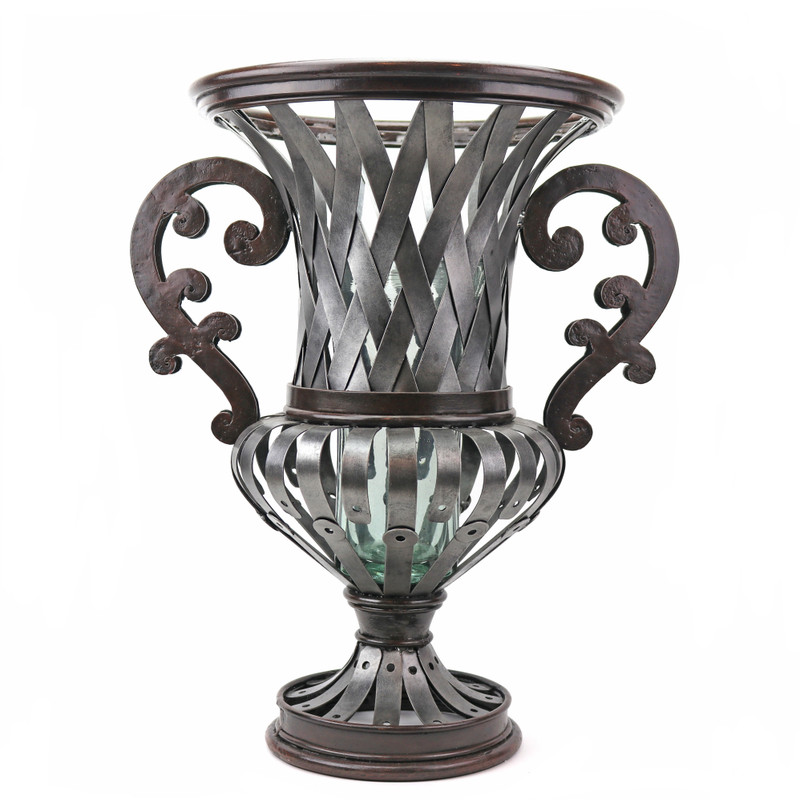 Victorian Garden Wrought Iron Urn