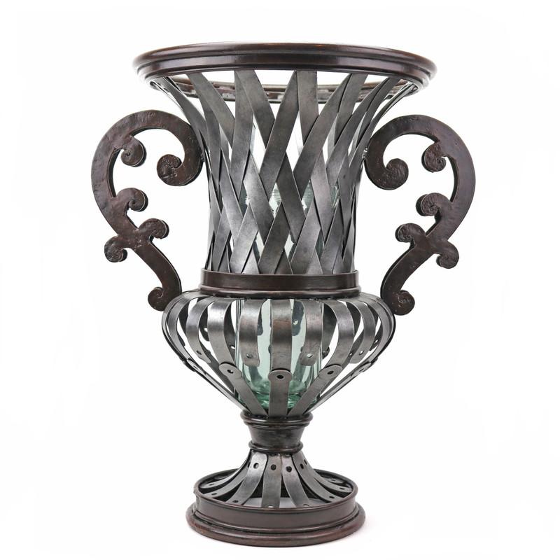 Victorian Garden Wrought Iron Urn