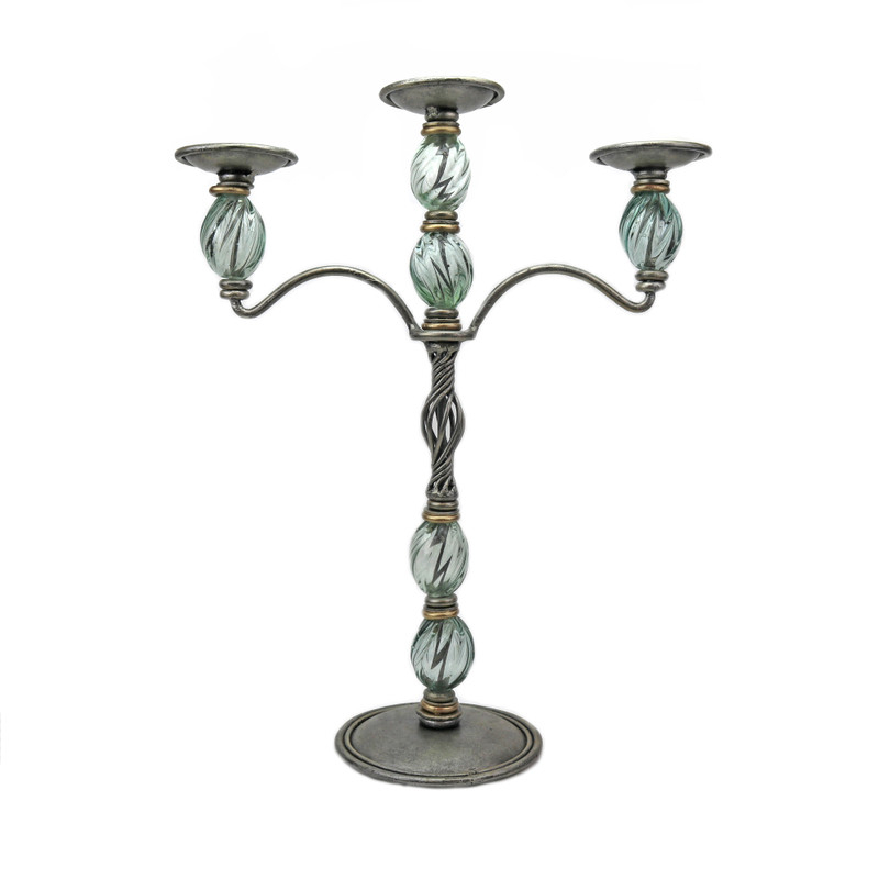 Pompeii 3 Light Candlestick
