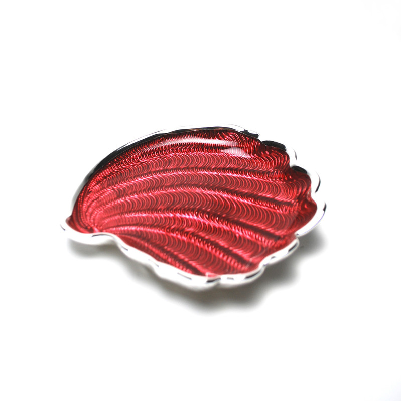 Conchiglia Plate Red