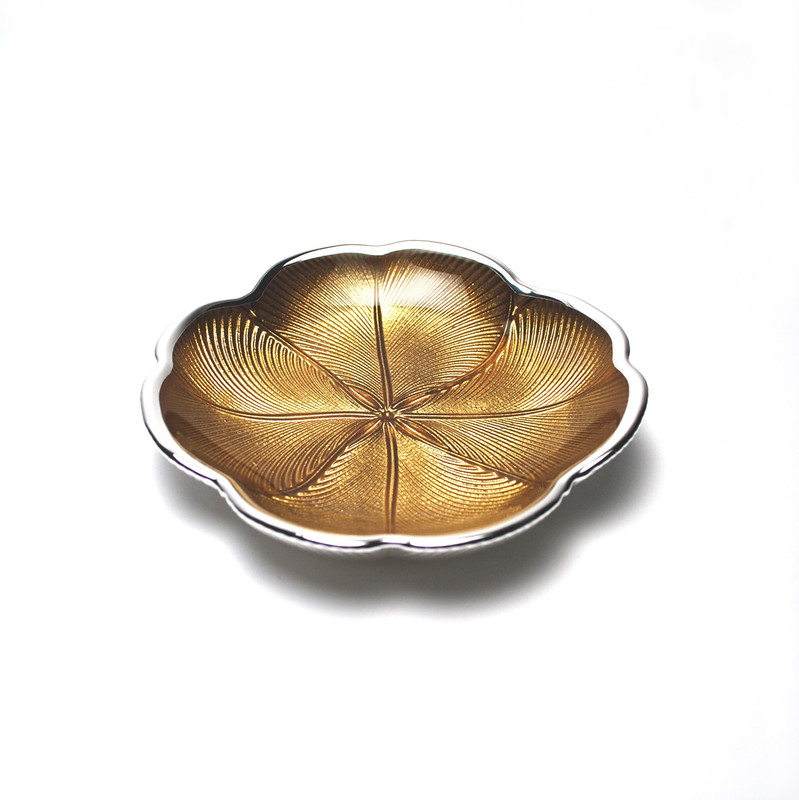 Quadrifoglio Plate Gold