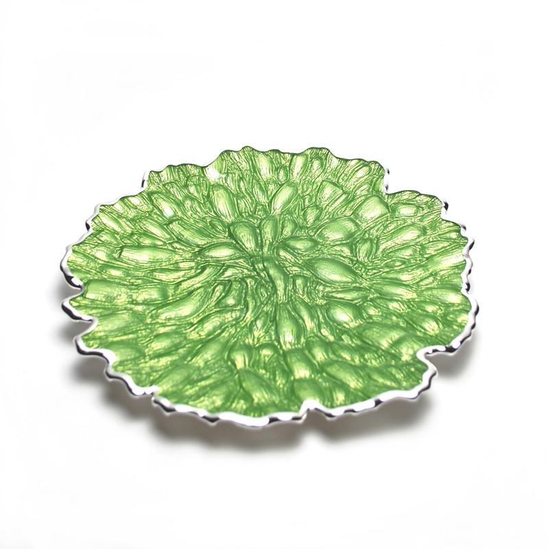 Moss Centerpiece Plate Green Silver