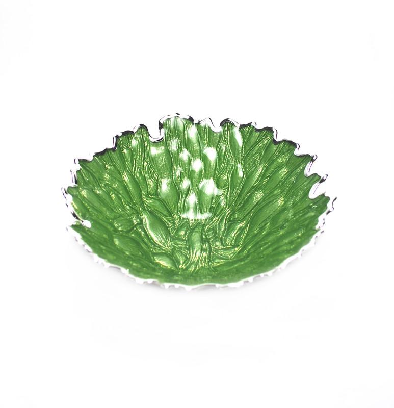 Moss Centerpiece Bowl Green Silver