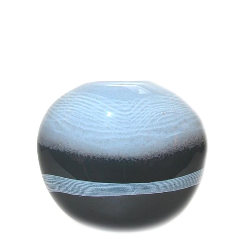 Sapphire Low Vase
