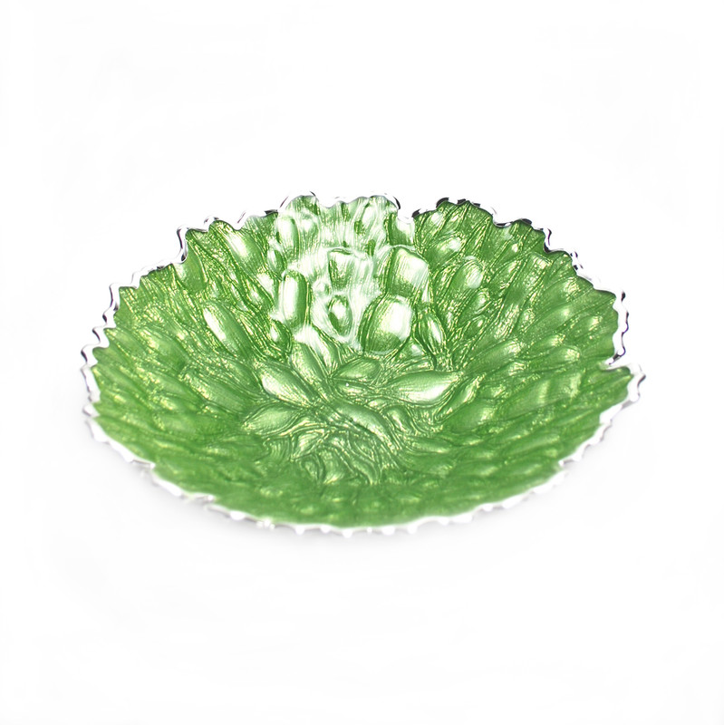 Moss Centerpiece Bowl Green Silver