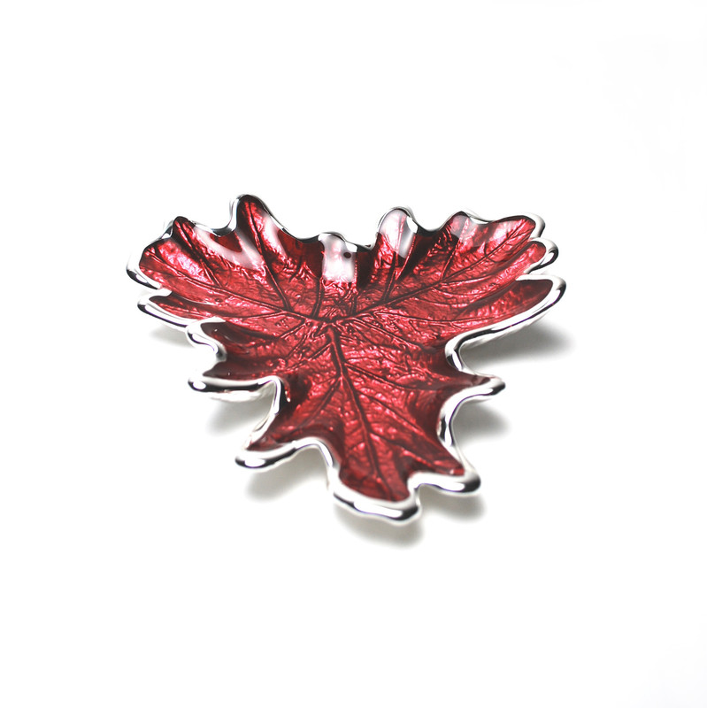 Foglia Grape Leaf Plate Red