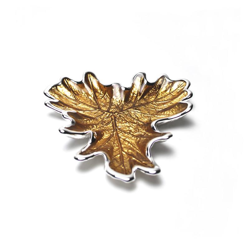 Foglia Grape Leaf Plate Amber