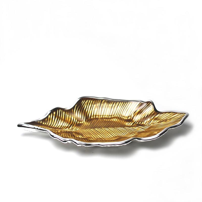 Foglia Willow Leaf Plate Amber