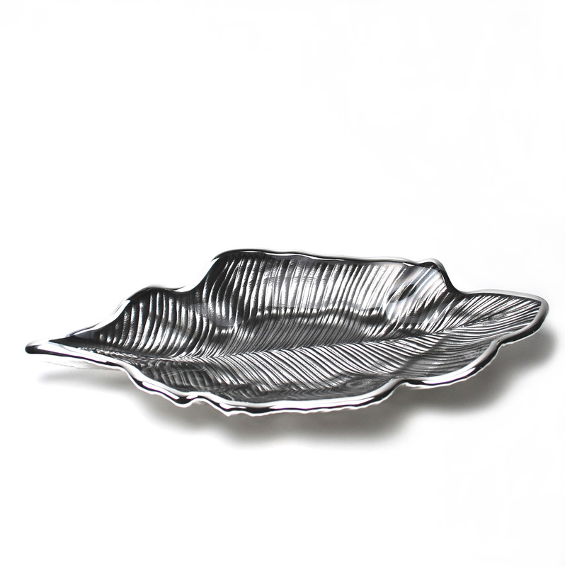 Foglia Willow Leaf Plate Ice Grey