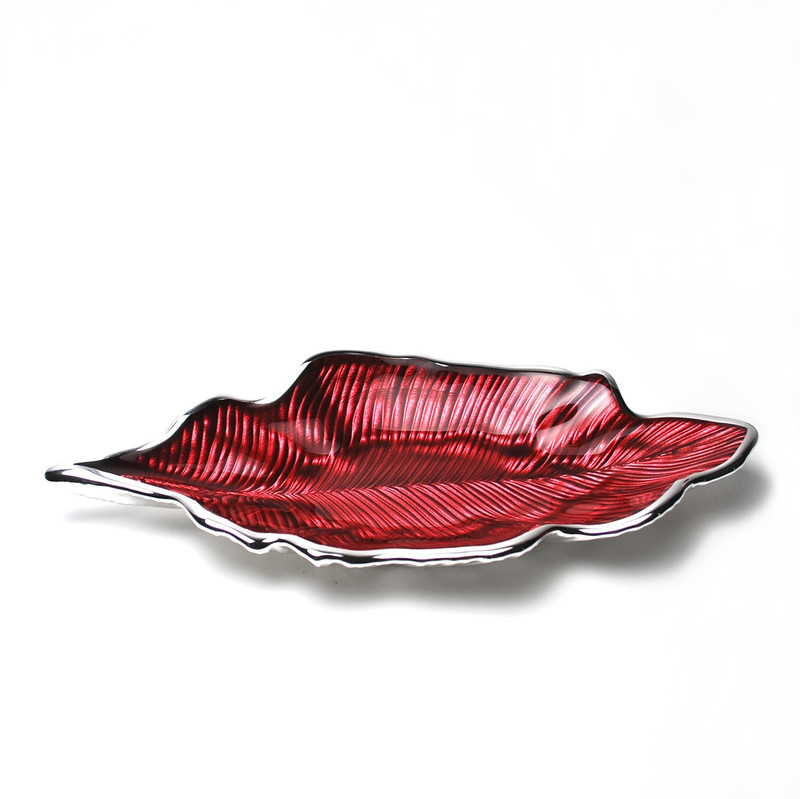 Foglia Willow Leaf Plate Red