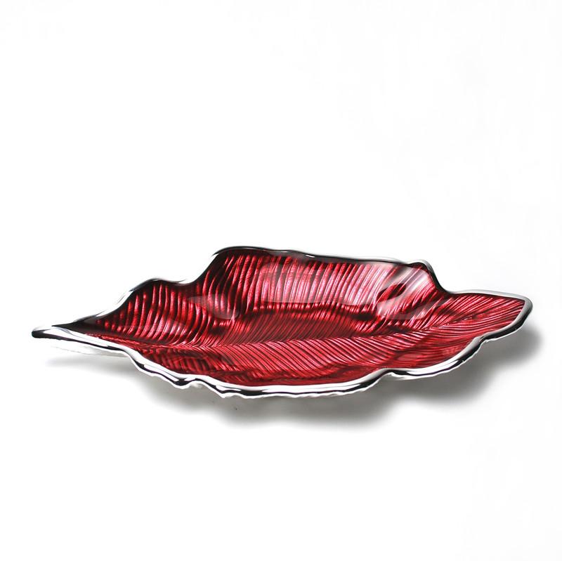 Foglia Willow Leaf Plate Red