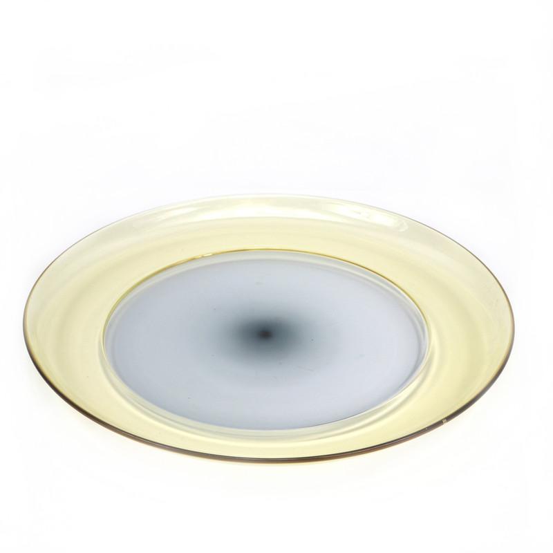 Murano Glass Reflection Centerpiece Plate