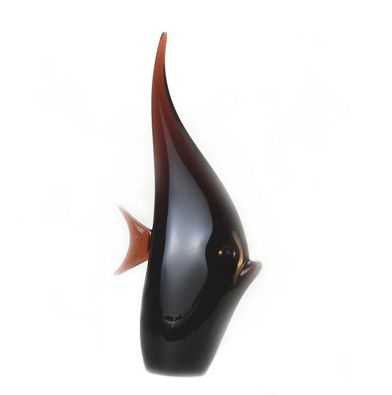 Murano Glass Moon Fish Tobacco