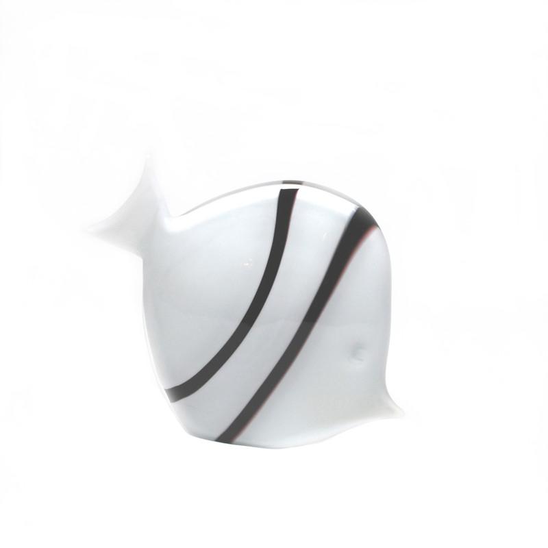Murano Glass Tropical Fish Opal Black