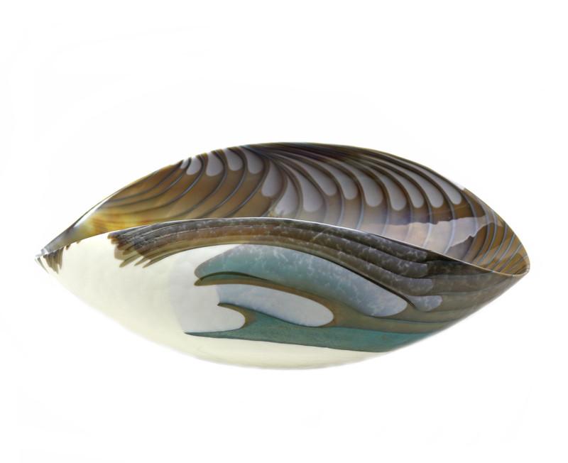 Murano Glass Filigrana Turquoise Bowl