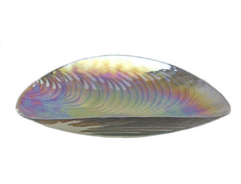 Murano Glass Filigrana Turquoise Centerpiece Plate