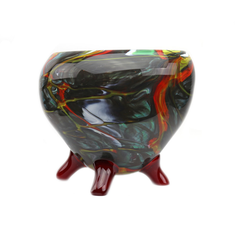 Murano Glass Nautilus Footed Centerpiece Bowl