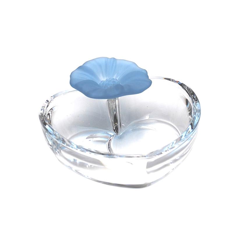 Anemone Crystal Heart Dish Blue