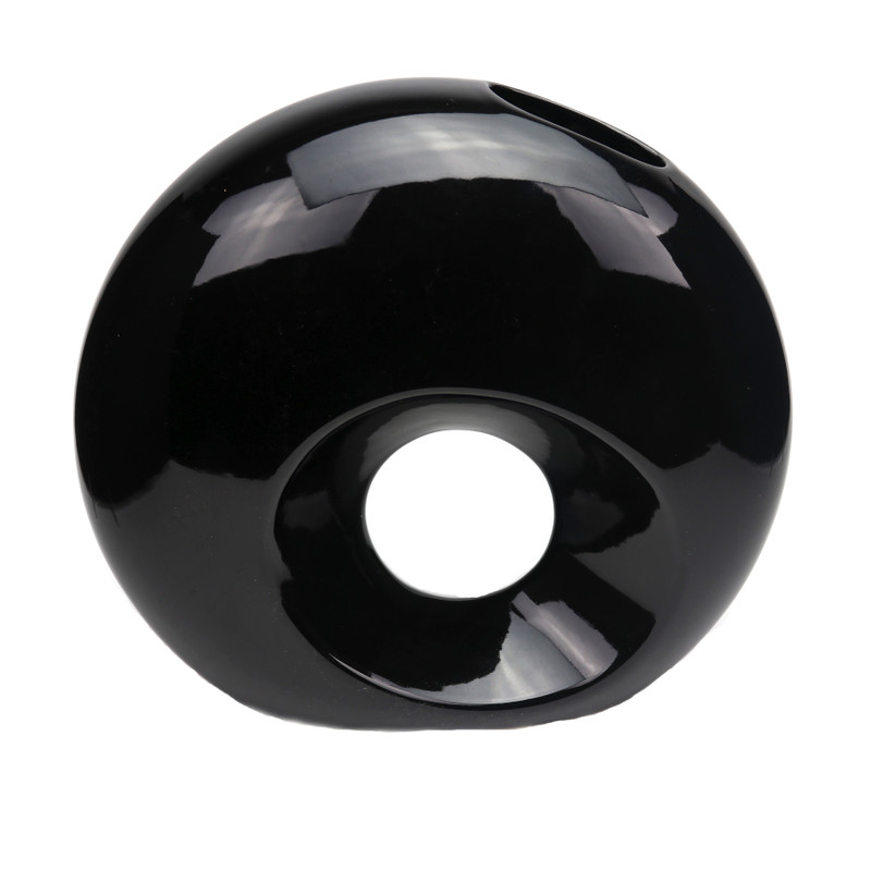 Global Ceramic Vase Black