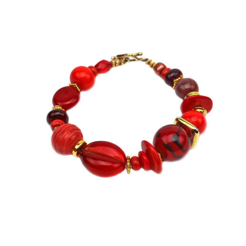 Murano Glass Arianna Bracelet Red