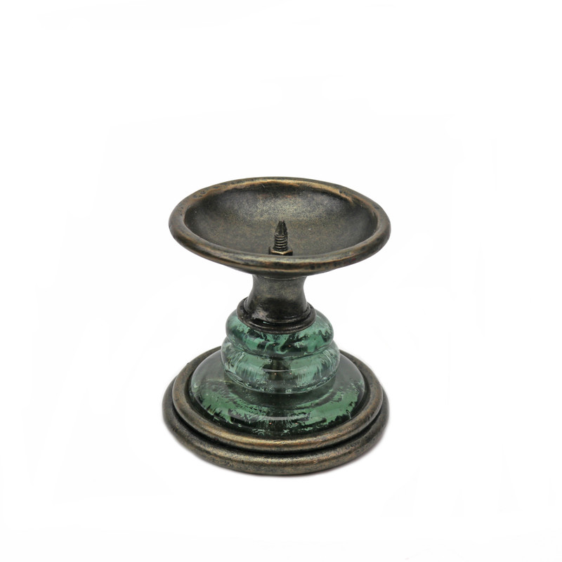Crystal Wrought Iron Candlestick