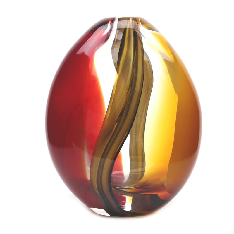 Murano Glass Design Crystal Mirage Vase