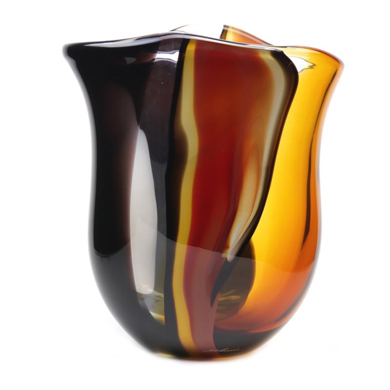 Murano Glass Design Crystal Cascade Vase