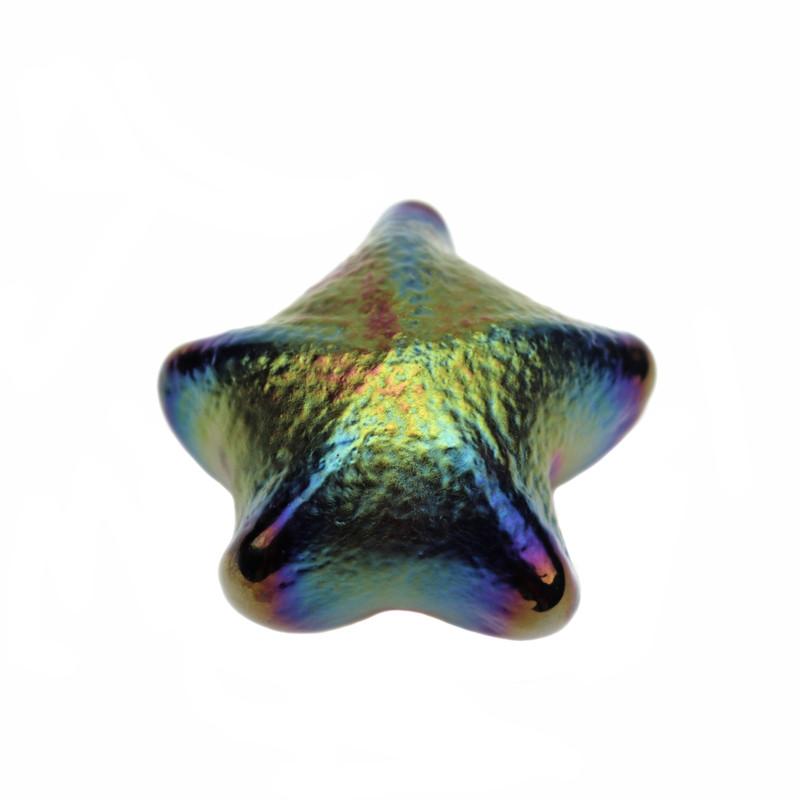 Starfish Paperweight Iridescent Gold