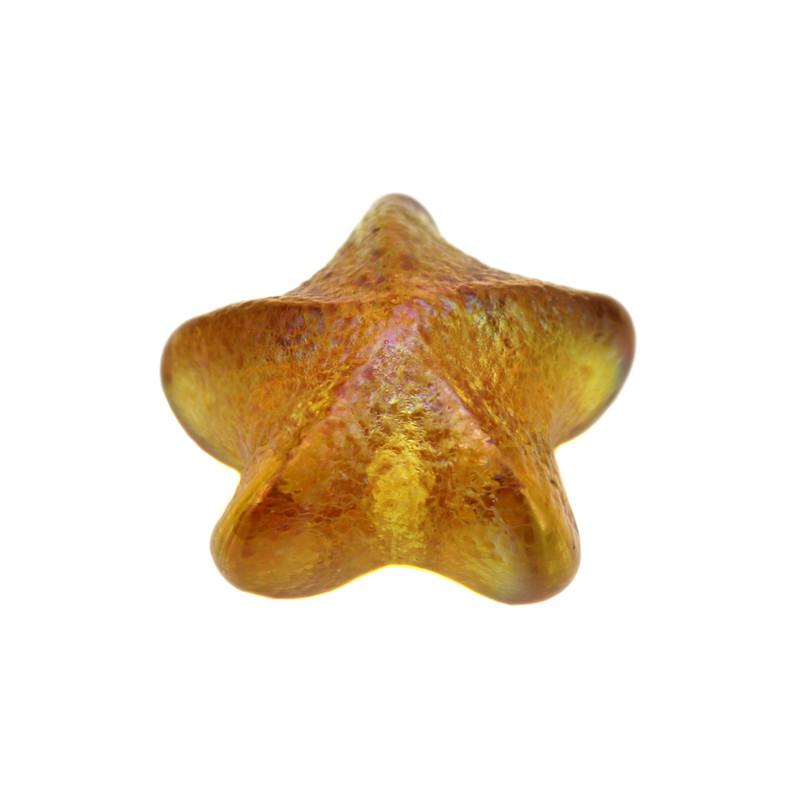 Starfish Paperweight Amber