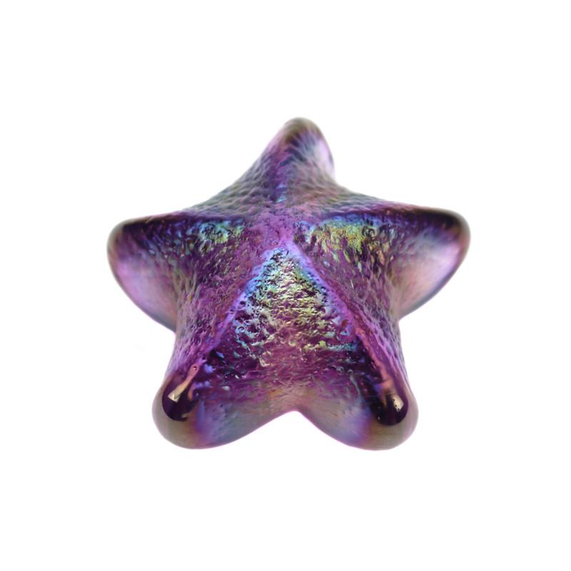 Starfish Paperweight Amethyst