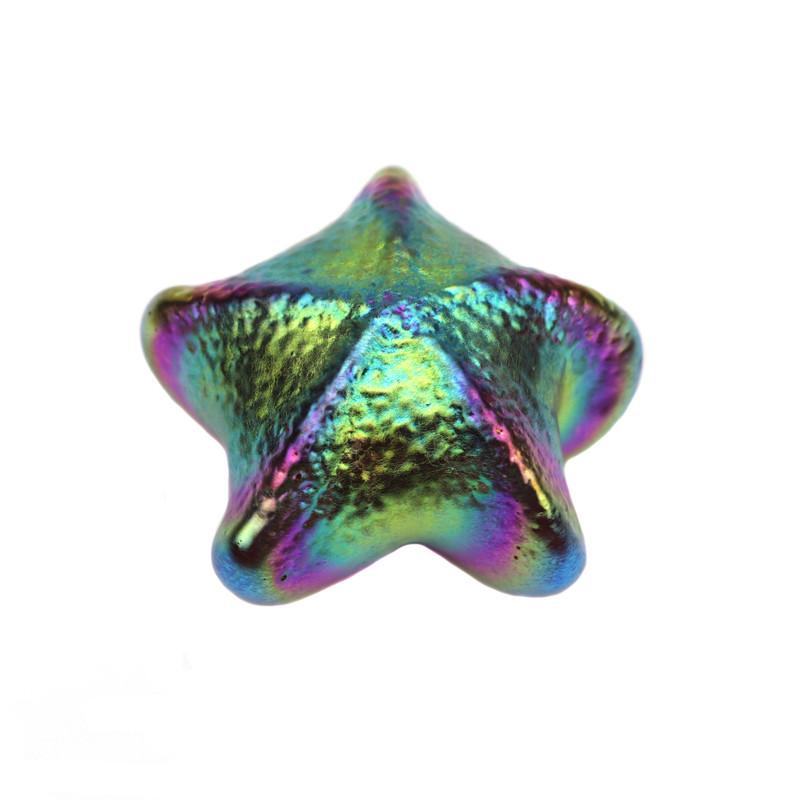Starfish paperweight Iridescent Amethyst