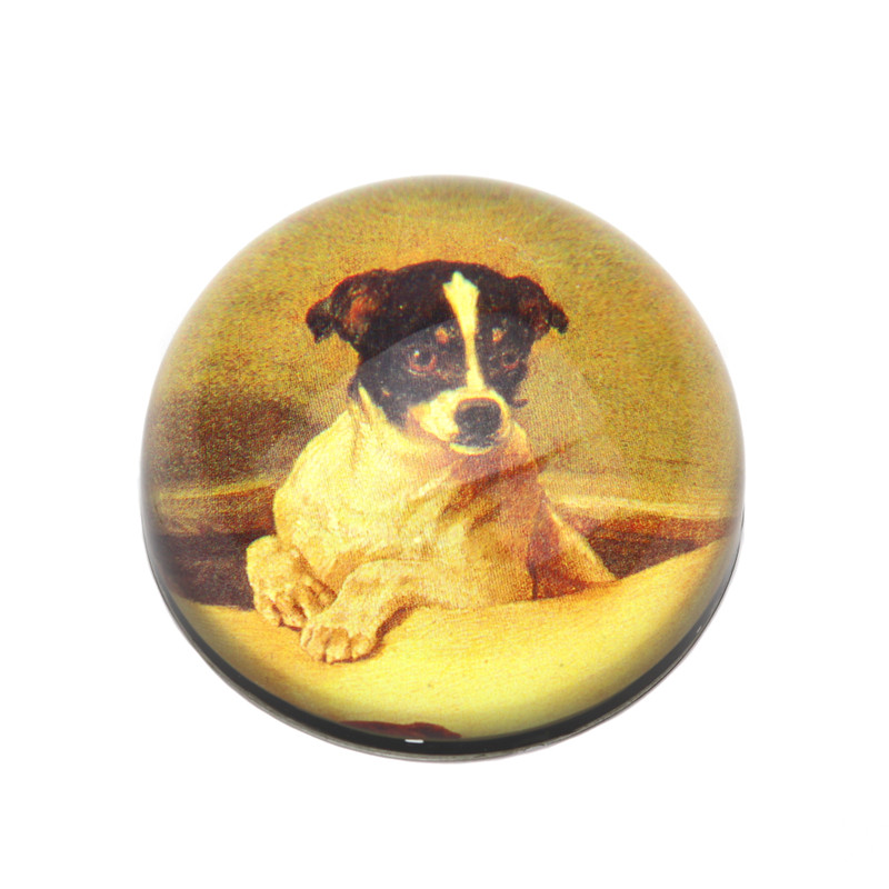 Jack Russell Crystal Dome Paperweight