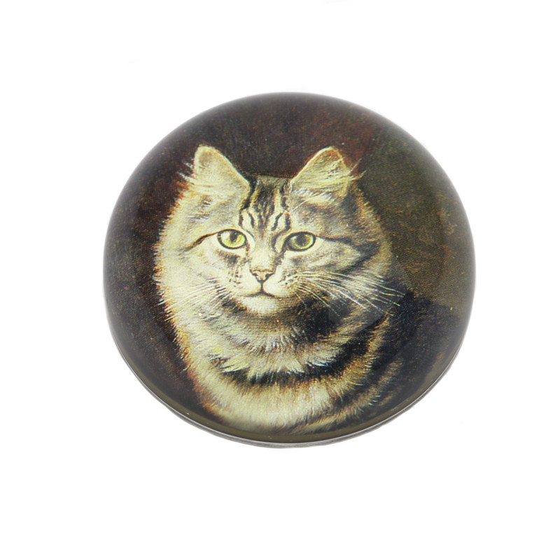 Cat Crystal Dome Paperweight