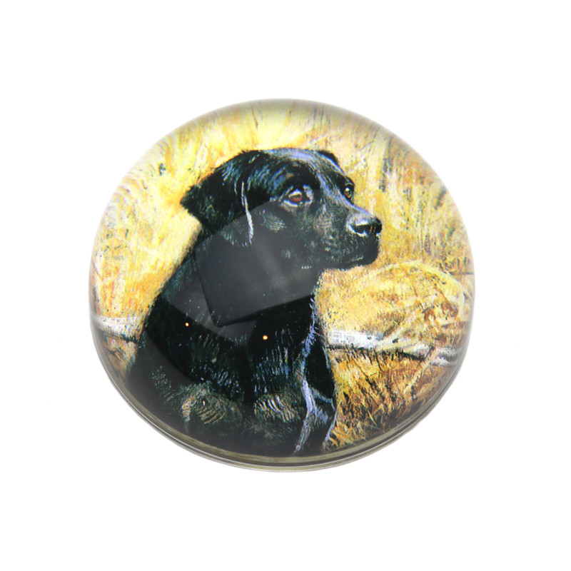 Labrador Crystal Dome Paperweight