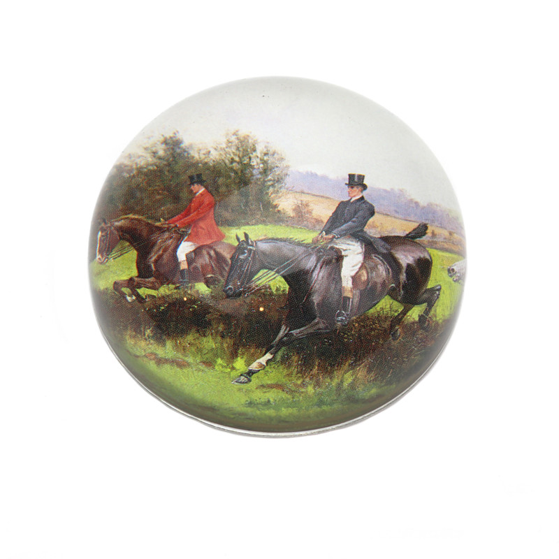 Over the Hedge Crystal Dome Paperweight