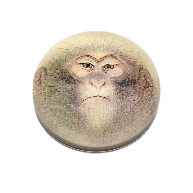 Oriental Monkey Crystal Dome Paperweight