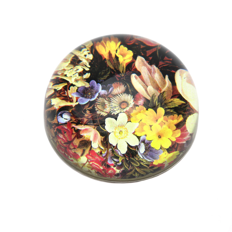 Spring Floral Crystal Dome Paperweight