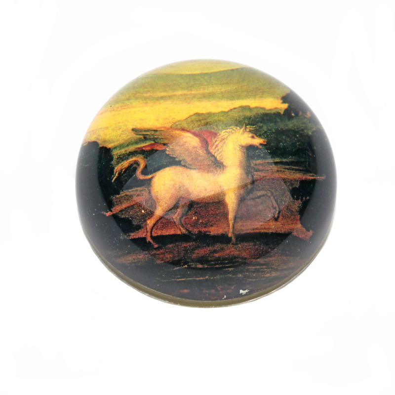 Pegasus Crystal Dome Paperweight