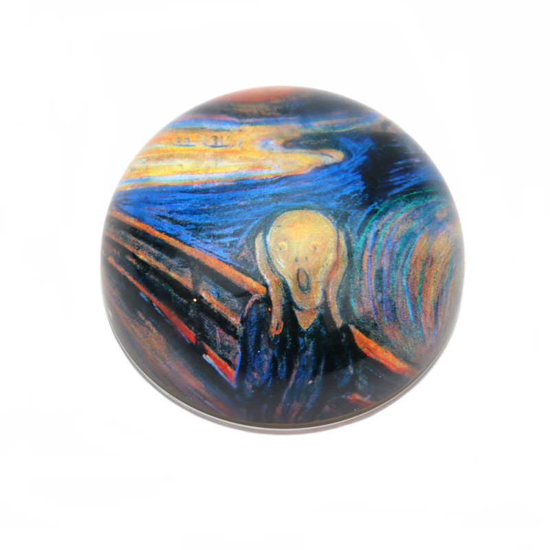The Scream Crystal Dome Paperweight