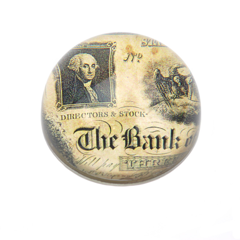 The Bank Crystal Dome Paperweight