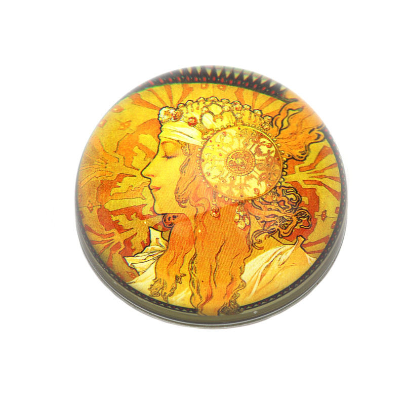 Art Nouveau Crystal Dome Paperweight