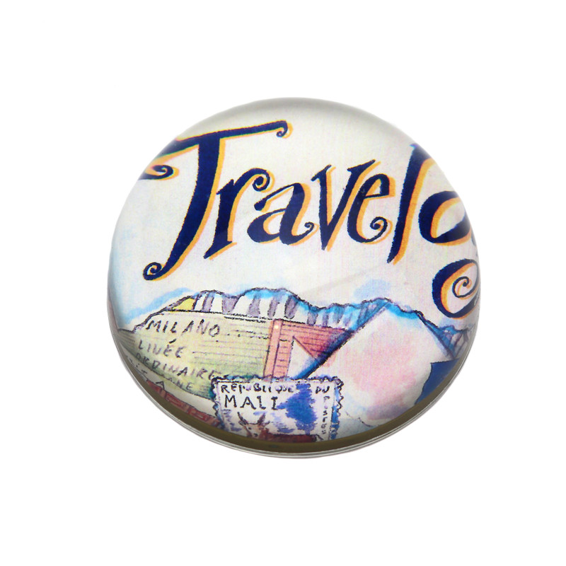 Travel Crystal Dome Paperweight