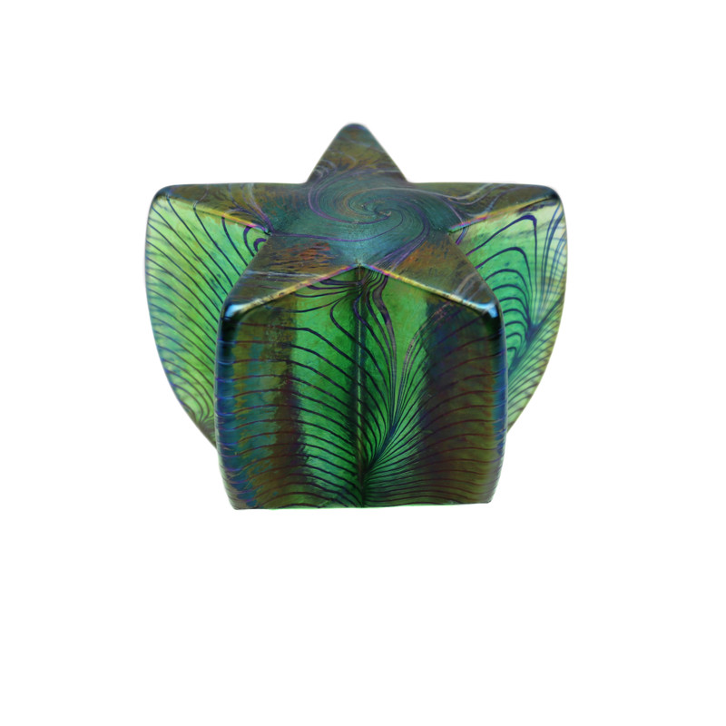 Star Paperweight Iridescent Green