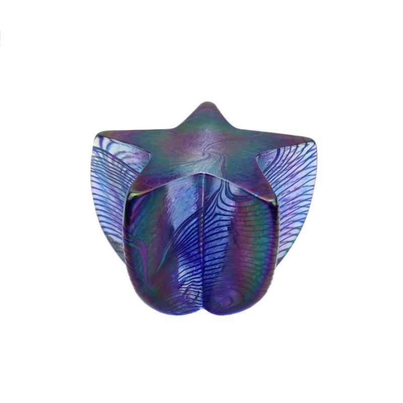 Star Paperweight Iridescent Blue