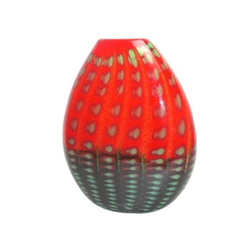 Greece Red Oval Vase