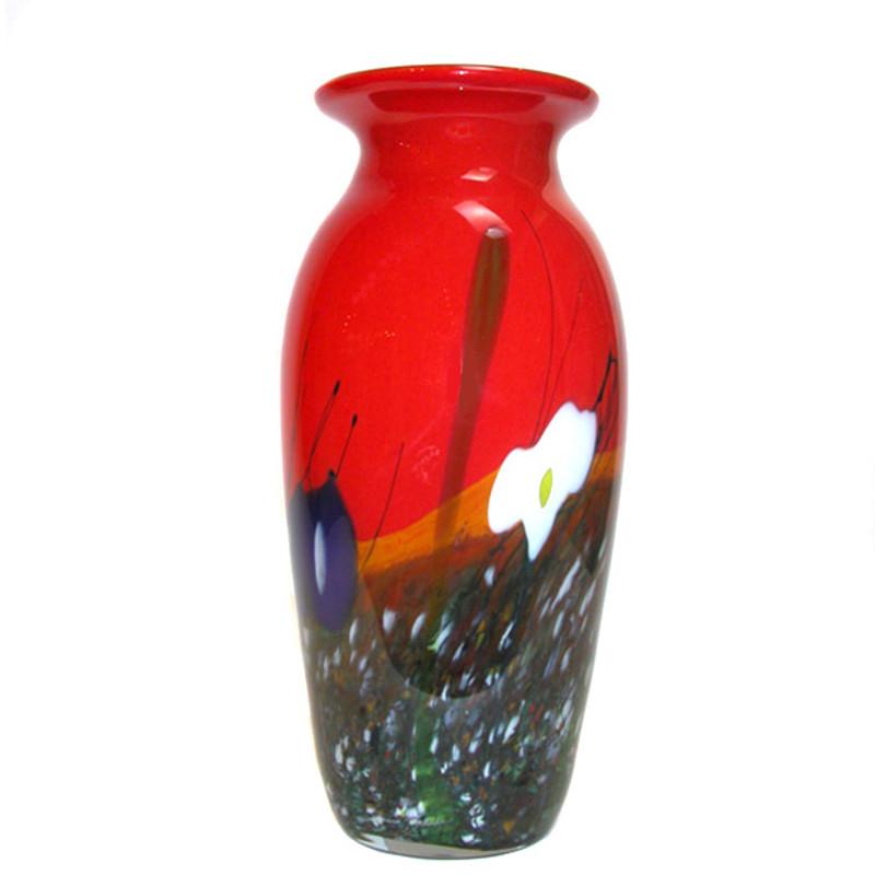 Brasil Vase Red