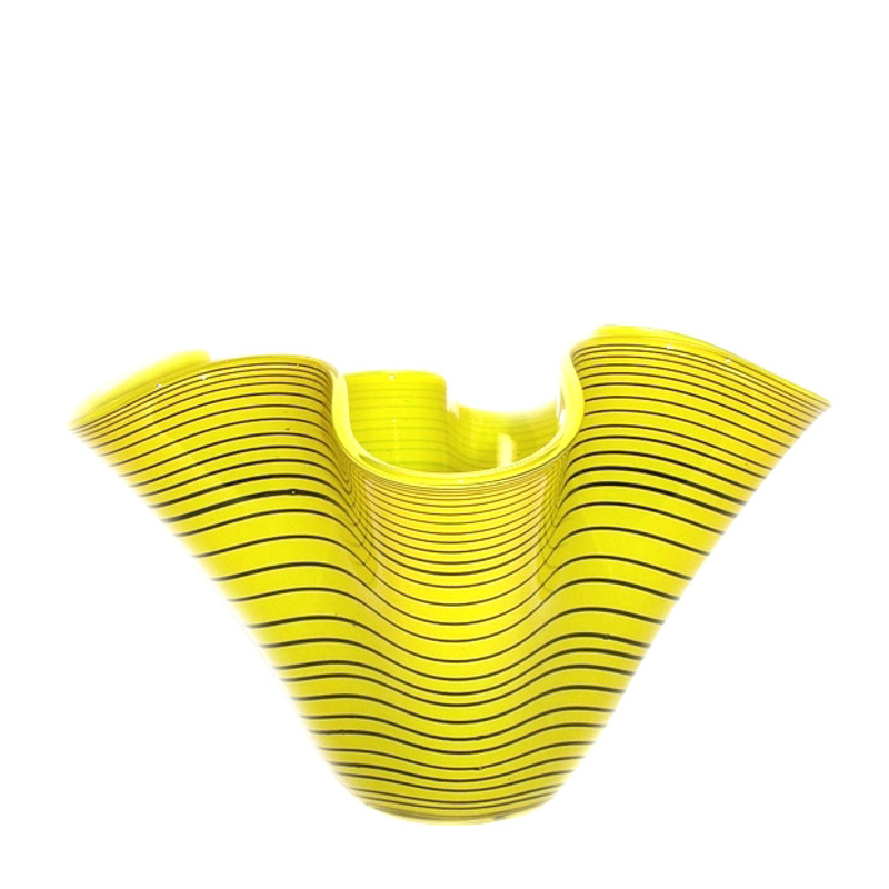 Tuica Ruffle Centerpiece Bowl Yellow