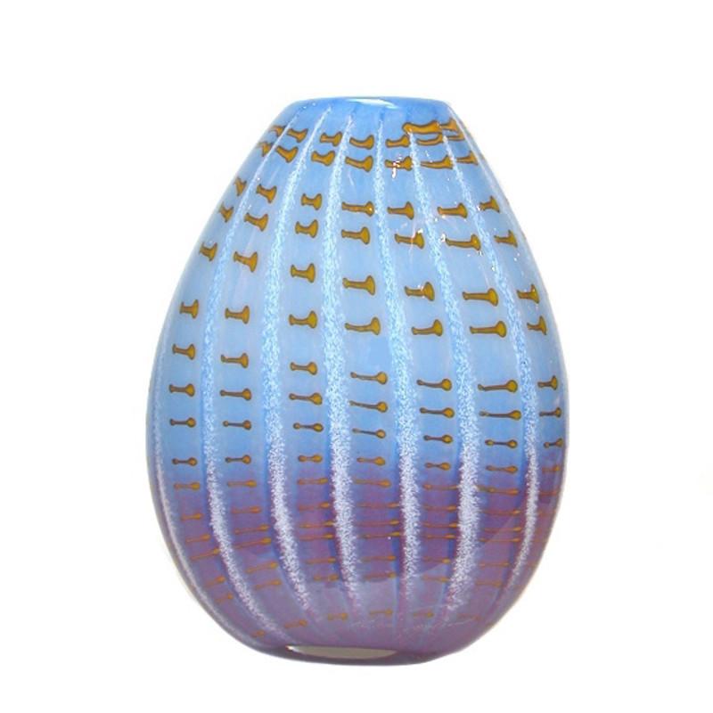 Greece Blue Oval Vase